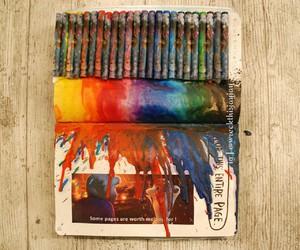 crayon art, rainbow, and frozen image
