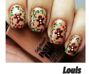 christmas, girl, and nail image