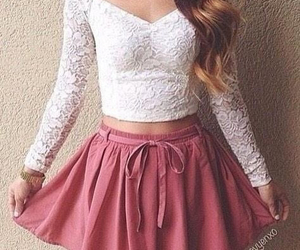 pretty hair, skirt, and beauty image