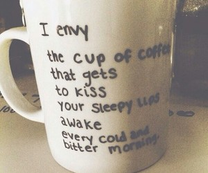 coffee, love, and kiss image