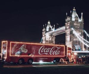 christmas, coca cola, and london image