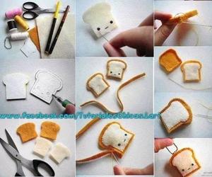 cute, diy, and bread image