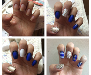 anchor, pretty, and gold nails image