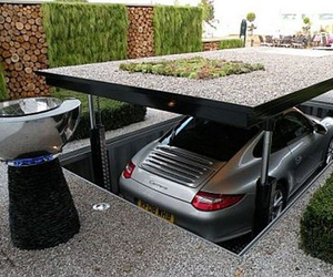 car, garage, and luxury image