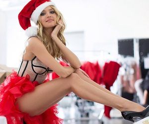 christmas, model, and Victoria's Secret image