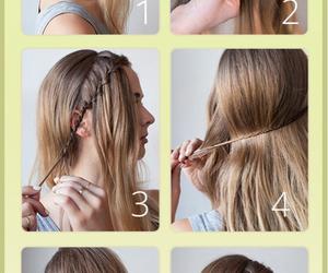 braid, tutorial, and hair image