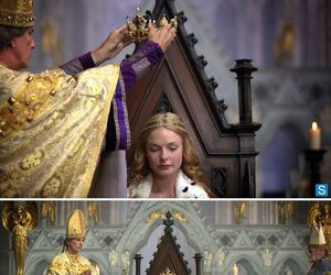 the white queen, rebecca ferguson, and elizabeth woodville image