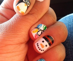 christmas, penguin, and snowman image