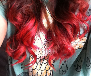 curls, hair, and ombre image