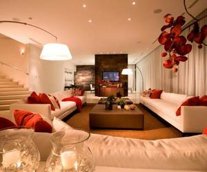 luxury, room, and red image