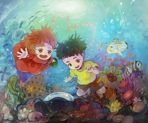 anime, art, and Ponyo image