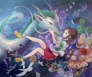 anime, ghibli, and spirited away image