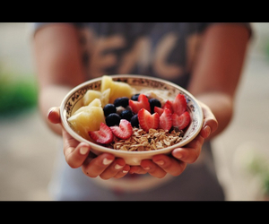 food, fruit, and oats image