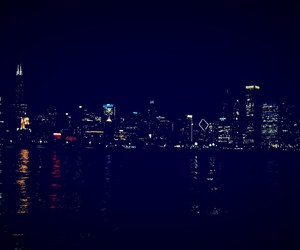 <3, chicago, and night image
