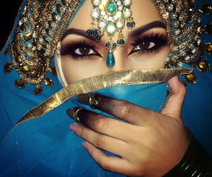 eyes, beautiful, and makeup image