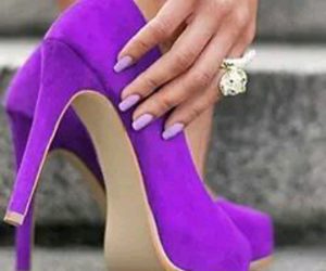 color, fashion, and high heels image
