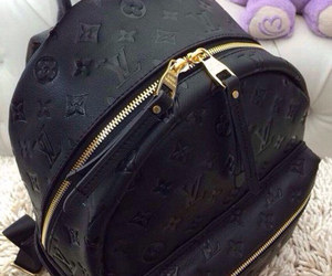 black, Louis Vuitton, and bag image