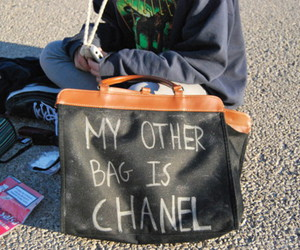 bag, chanel, and funny image