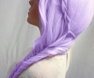 braid, hair, and dyed image