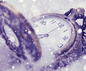 clock, snow, and time image