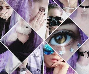 Collage, girl, and purple image