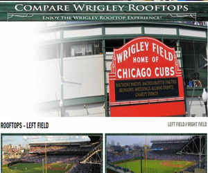 chicago cubs rooftop, wrigley rooftops, and wrigley field rooftops image