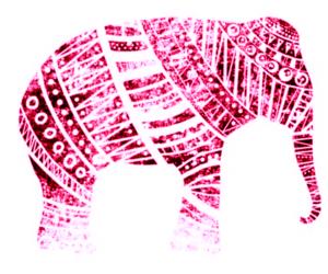 art, elefante, and pink image