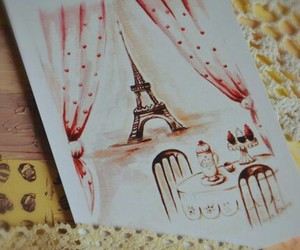 card, france, and paris image