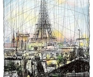art, france, and the eiffel tower image