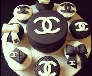 chanel, cake, and cupcake image