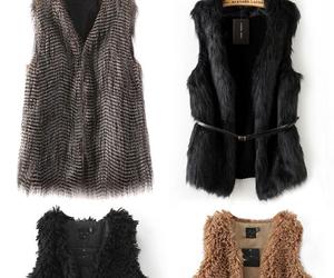 clothing, faux fur, and fur vest image