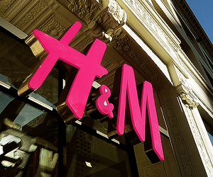 H&M, pink, and shop image