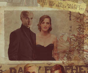 draco malfoy, harry potter, and dramione image