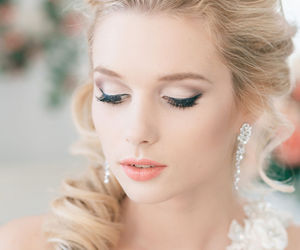 wedding, hairstyle, and beautiful image
