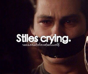 cry, OMG, and teen wolf image