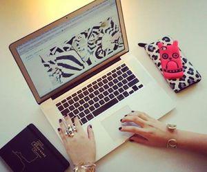 laptop, luxury, and nails image