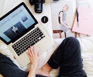 fashion, camera, and laptop image