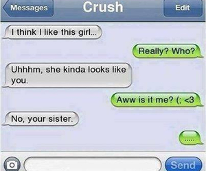 funny, crush, and sisters image