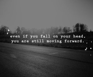 black and white, fall, and quote image