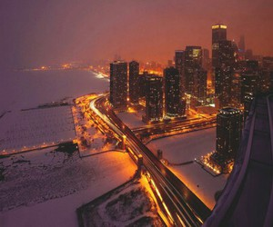 snow, xmas, and chicago image