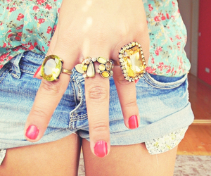 rings, flowers, and nails image