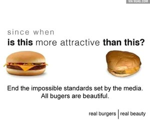 burger, attractive, and food image