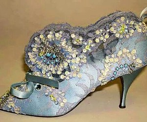 antique, blue, and shoe image