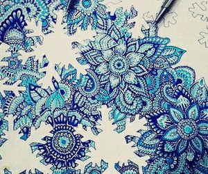 draw, drawing, and snowflakes image