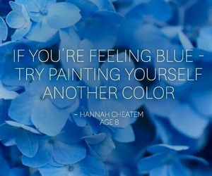 blue, colour, and quote image