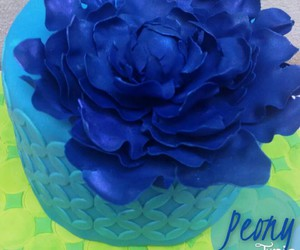 blue, flower, and cake image