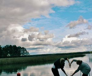 clouds, friendship, and heart image