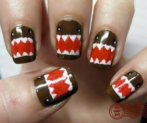 nails, domo, and nail art image