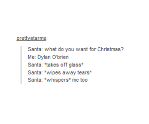 christmas and dylan obrien image