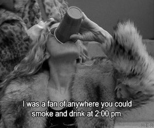sex and the city, drink, and smoke image